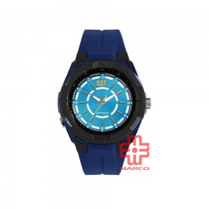 CAT 09 SERIES 09-160-26-626 BLUE RUBBER STRAP MEN WATCH