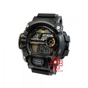 CAT 1A Series Digital Black 1A-167-21-141 Black Silicon Strap Watch