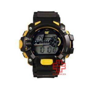 CAT 1A Series Digital Black 1A-167-21-241 Silicon Strap Watch