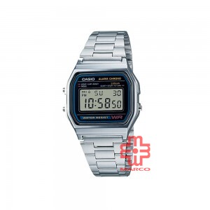 Casio General A158WA-1 Silver Stainless Steel Band Men Watch