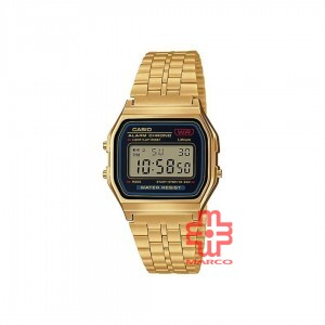 Casio General A159WGEA-1 Gold Stainless Steel Band Unisex Watch