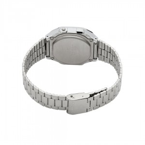 Casio General A168WA-1W Silver Stainless Steel Band Men Watch