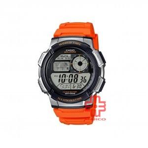 Casio General AE-1000W-4B Orange Resin Band Men Sports Watch