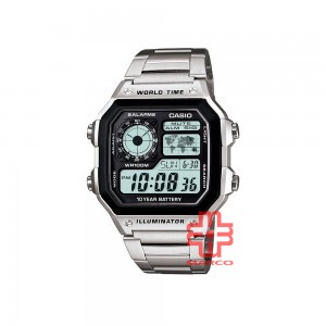 Casio General AE-1200WHD-1A Silver Stainless Steel Band Men Watch