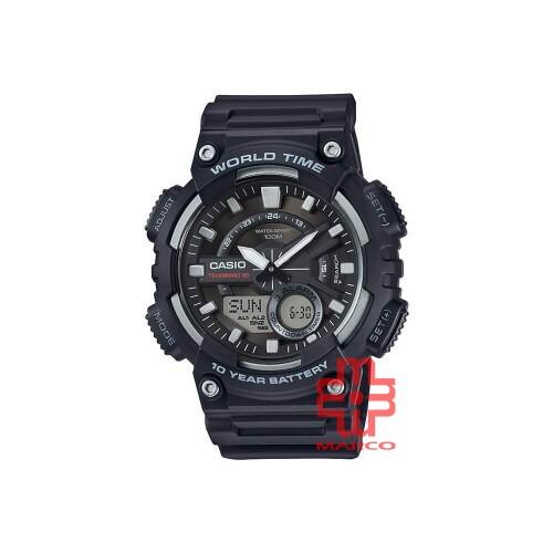 Casio General AEQ-110W-1A Black Resin Band Men Youth Watch