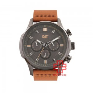 CAT AG MULTI AG-159-35-524 BROWN LEATHER STRAP MEN WATCH