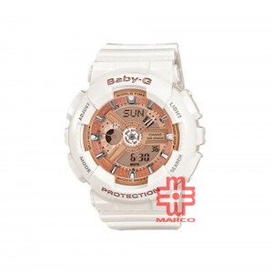 Casio Baby-G BA-110-7A1 White Resin Band Women Sport Watch