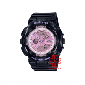 Casio Baby-G BA-110PL-1A Black Resin Band Women Sports Watch