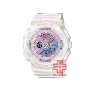 Casio Baby-G BA-110PL-7A1 White Resin Band Women Sports Watch
