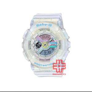 Casio Baby-G BA-110PL-7A2 White Resin Band Women Sports Watch
