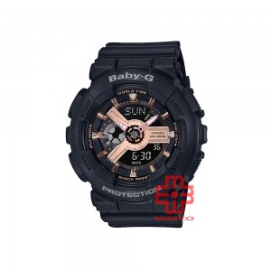 Casio Baby-G BA-110RG-1A Black Resin Band Women Sport Watch