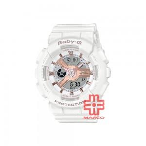 Casio Baby-G BA-110RG-7A White Resin Band Women Sport Watch