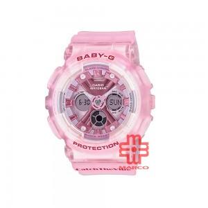 Casio Baby-G BA-130CV-4A Pink Semi-trans Resin Band Women Sports Watch