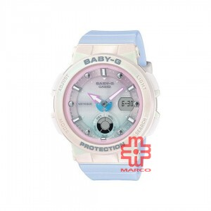 Casio Baby-G BGA-250-7A3 Light Blue Resin Band Women Sports Watch