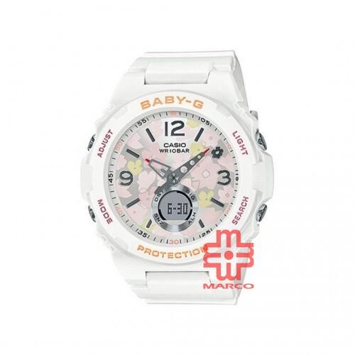 Casio Baby-G BGA-260FL-7A White Resin Band Women Sports Watch