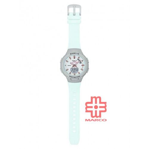 Casio Baby-G BSA-B100MC-8A Light Blue Resin Band Women Sports Watch
