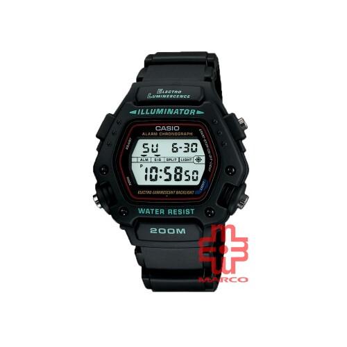 Casio General DW-290-1 Black Resin Band Men Watch