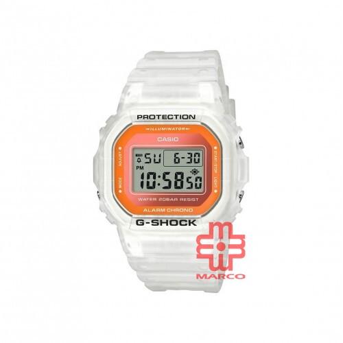 Casio G-Shock DW-5600LS-7 White Resin Band Men Sports Watch