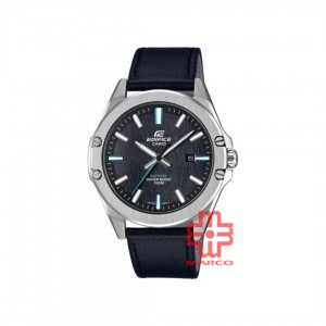 Casio Edifice EFR-S107L-1A Black Leather Band Men Watch