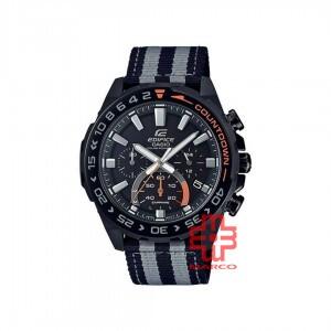 Casio Edifice EFS-S550BL-1A Stripe Black Cloth Band Men Watch