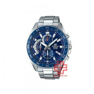 Casio Edifice EFV-550D-2A Blue Silver Stainless Steel Band Men Watch