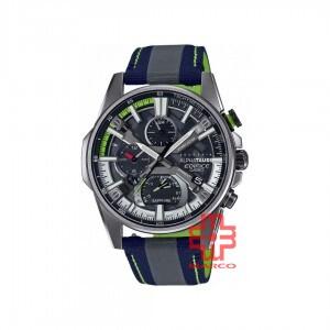 Casio Edifice EQB-1200AT-1A Grey Leather | Cloth Band Men Watch