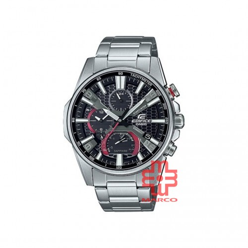 Casio Edifice EQB-1200D-1A Silver Stainless Steel Band Men Watch