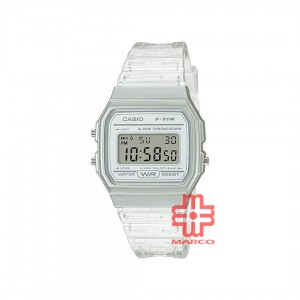 Casio General F-91WS-7D Digital White Resin Band Youth Watch