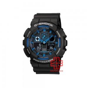 Casio G-Shock GA-100-1A2 Black Resin Band Men Sports Watch