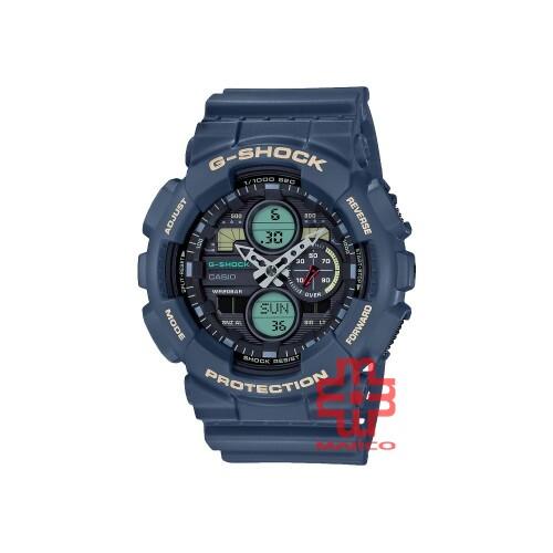 Casio G-Shock GA-140-2A Blue Resin Band Men Sports Watch