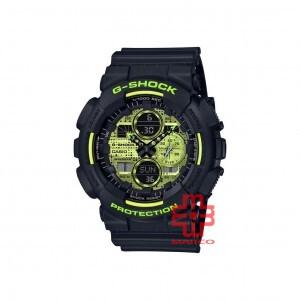 Casio G-Shock GA-140DC-1A Black Resin Band Men Sports Watch
