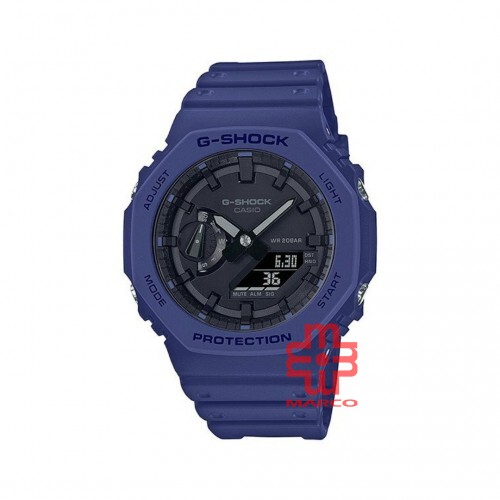 Casio G-Shock GA-2100-2A Blue Resin Band Men Sports Watch