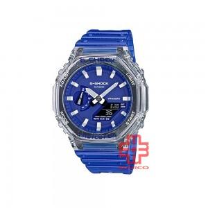 Casio G-Shock GA-2100HC-2A Blue Semi-trans Resin Band Men Sports Watch