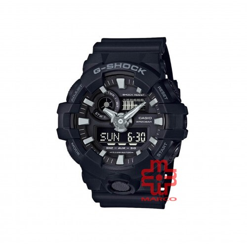 Casio G-Shock GA-700-1B Black Resin Band Men Sports Watch