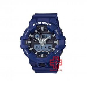 Casio G-Shock GA-700-2A Blue Resin Band Men Sports Watch