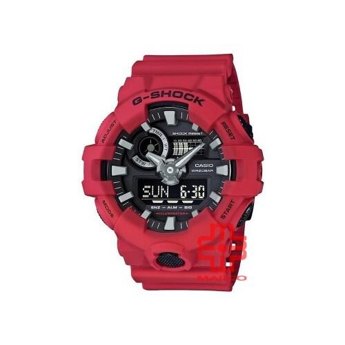 Casio G-Shock GA-700-4A Red Resin Band Men Sports Watch