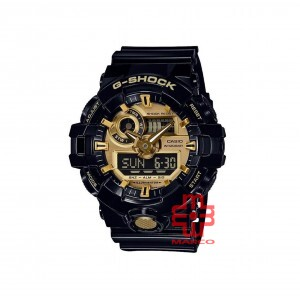 Casio G-Shock GA-710GB-1A Black Resin Band Men Sports Watch