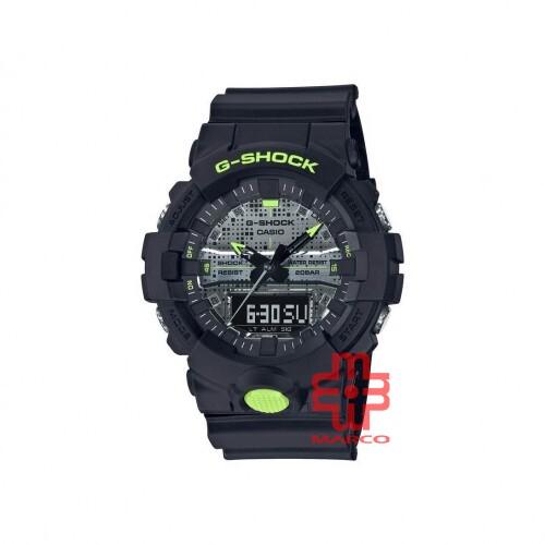 Casio G-Shock GA-800DC-1A Black Resin Band Men Sports Watch