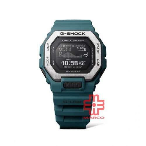 Casio G-Shock GBX-100-2 Turquoise Resin Band Men Sports Watch