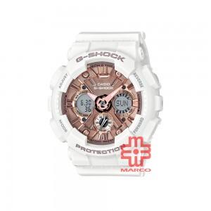 Casio G-Shock GMA-S120MF-7A2 White Resin Band Women Sports Watch