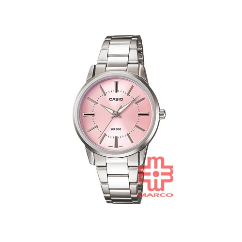 Casio General LTP-1303D-4A Silver Stainless Steel Band Women Watch