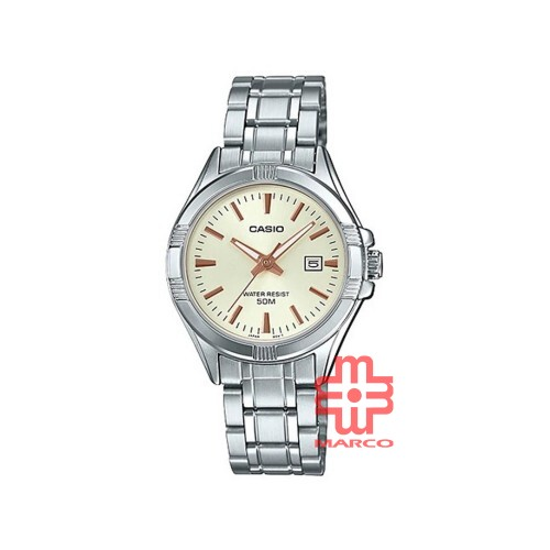 Casio General LTP-1308D-9A Silver Stainless Steel Band Women Watch