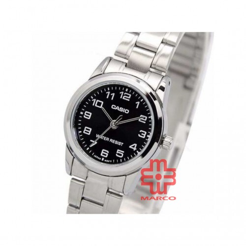 Casio General LTP-V001D-1B Silver Stainless Steel Band Women Watch
