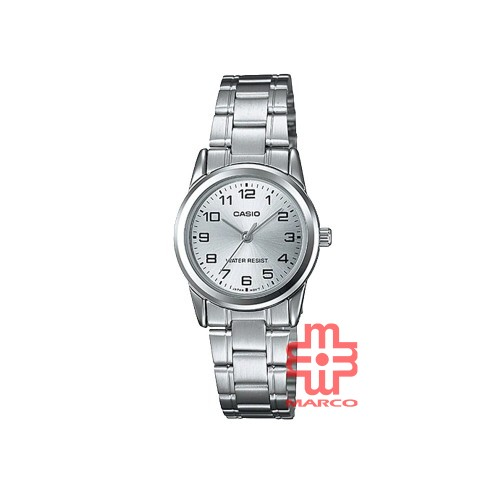 Casio General LTP-V001D-7B Silver Stainless Steel Band Women Watch