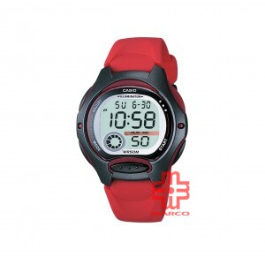 Casio General LW-200-4A Red Resin Band Unisex Sports Watch