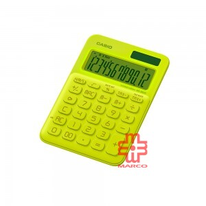 Casio Colorful Calculator MS-20UC-L-NYW Neon Yellow