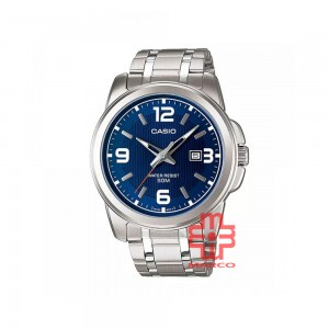 Casio General MTP-1314D-2A Silver Stainless Steel Band Men Watch