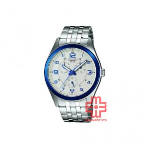 Casio General MTP-1352D-8B1 Silver Stainless Steel Band Men Watch