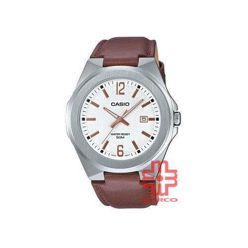 Casio General MTP-E158L-7A Brown Leather Band Men Watch