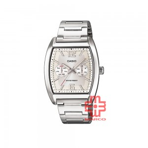 Casio General MTP-E302D-7A Silver Stainless Steel Band Men Watch